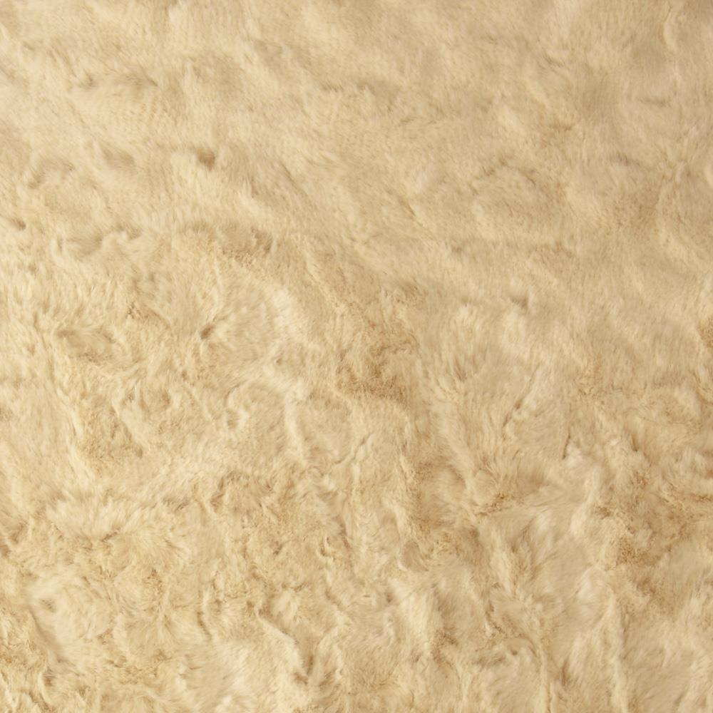 Plush Textured Faux Fur Cream