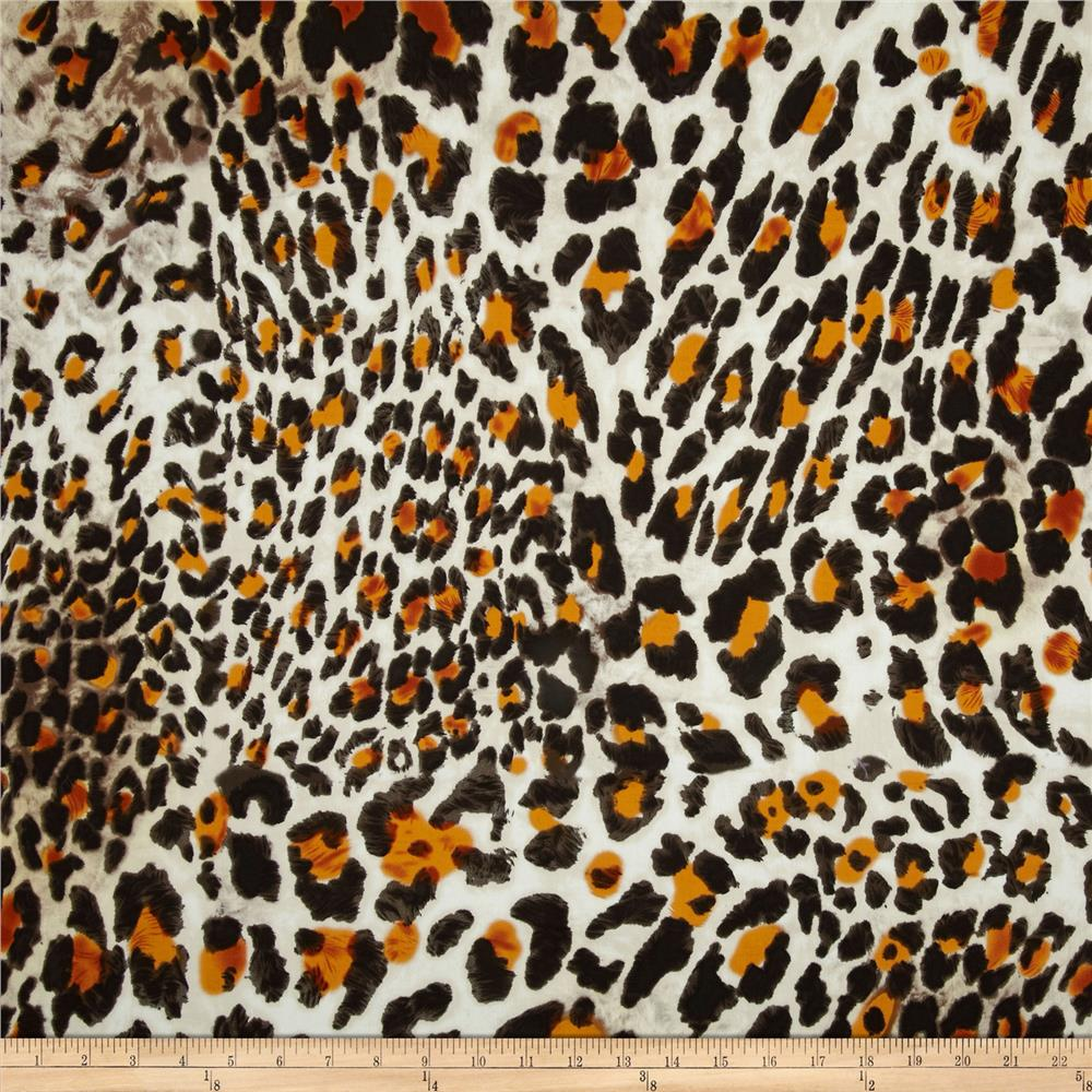 Bloom Stretch Cotton Sateen Leopard Brown/Orange