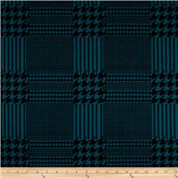 Ponte de Roma Houndstooth Check Black/Turquoise