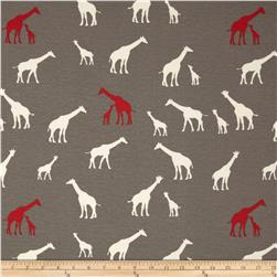 Birch Organic Serengeti Interlock Knit Giraffe Family Shroom