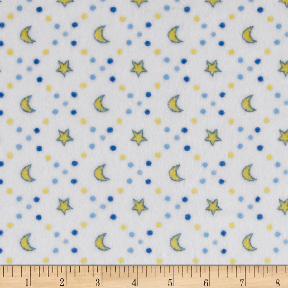 Shannon Minky Cuddle Classic Baby Starlight Blue Fabric by Shannon in USA
