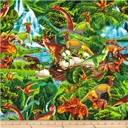 Timeless Treasures Dinosaurs Green