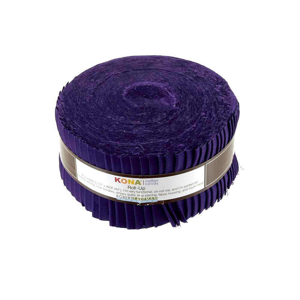 "Kona Cotton Purple 2.5"" Roll Ups"