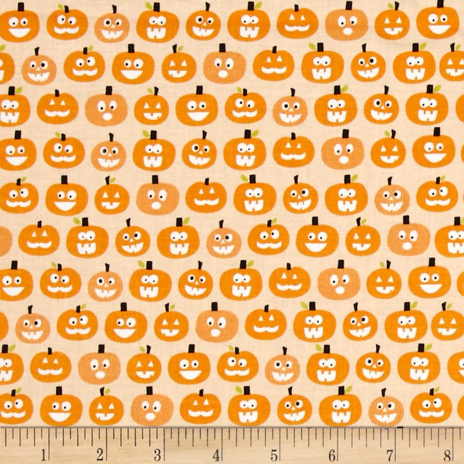 Riley Blake Halloween Magic Glow in the Dark Pumpkins Orange