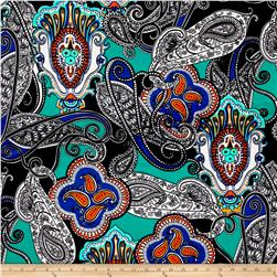 Liverpool Double Knit Paisley Lace Royal