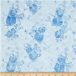 Timeless Treasures Tonga Batiks Snowmen Robin
