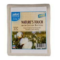 "Pellon Natural Blend 80/20 Batting Throw 60"" X 60"""