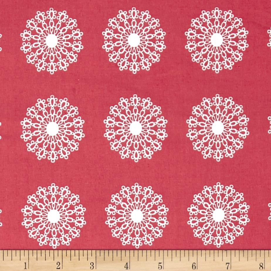 Windham Modern Country Lace Medallion  Raspberry