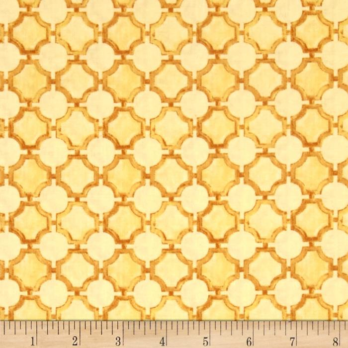 Sunshine Circle Grid Yellow