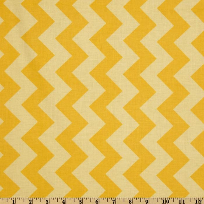 Riley Blake Chevron Medium Tonal Yellow
