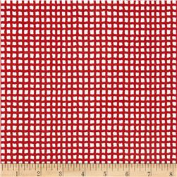 Alpine Flannel Gingham Medium Red