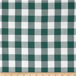 Gingham 1'' Checks Galore Green