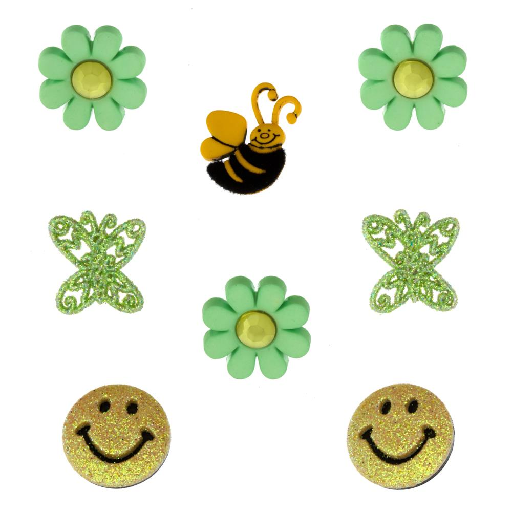 Dress It Up Embellishment Buttons  Citrus Fun