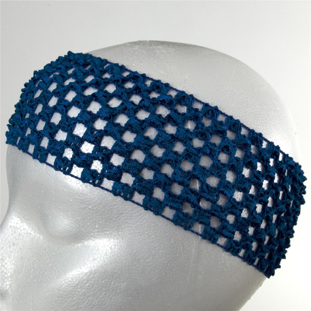 "2 3/4"" Crochet Headband Royal Blue"