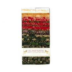 "Island Batik 2.5"" Strip Pack Ginger Snap"