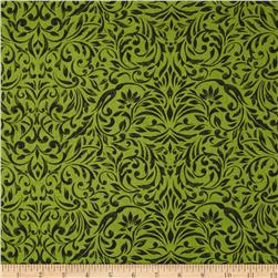 My True Love Gave to Me Damask Light Green