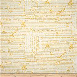 Premier Prints Newsletter Slub Corn Yellow