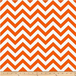 Premier Prints Indoor/Outdoor Zig Zag Orange Fabric