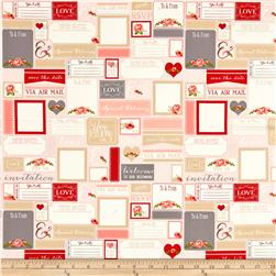Riley Blake Rustic Elegance Postcards Peach