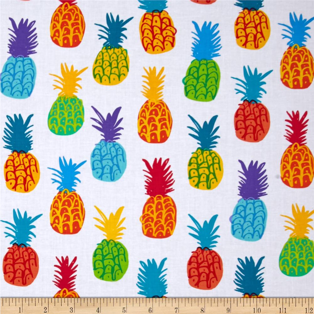 Kanvas Endless Summer Playful Pineapples White