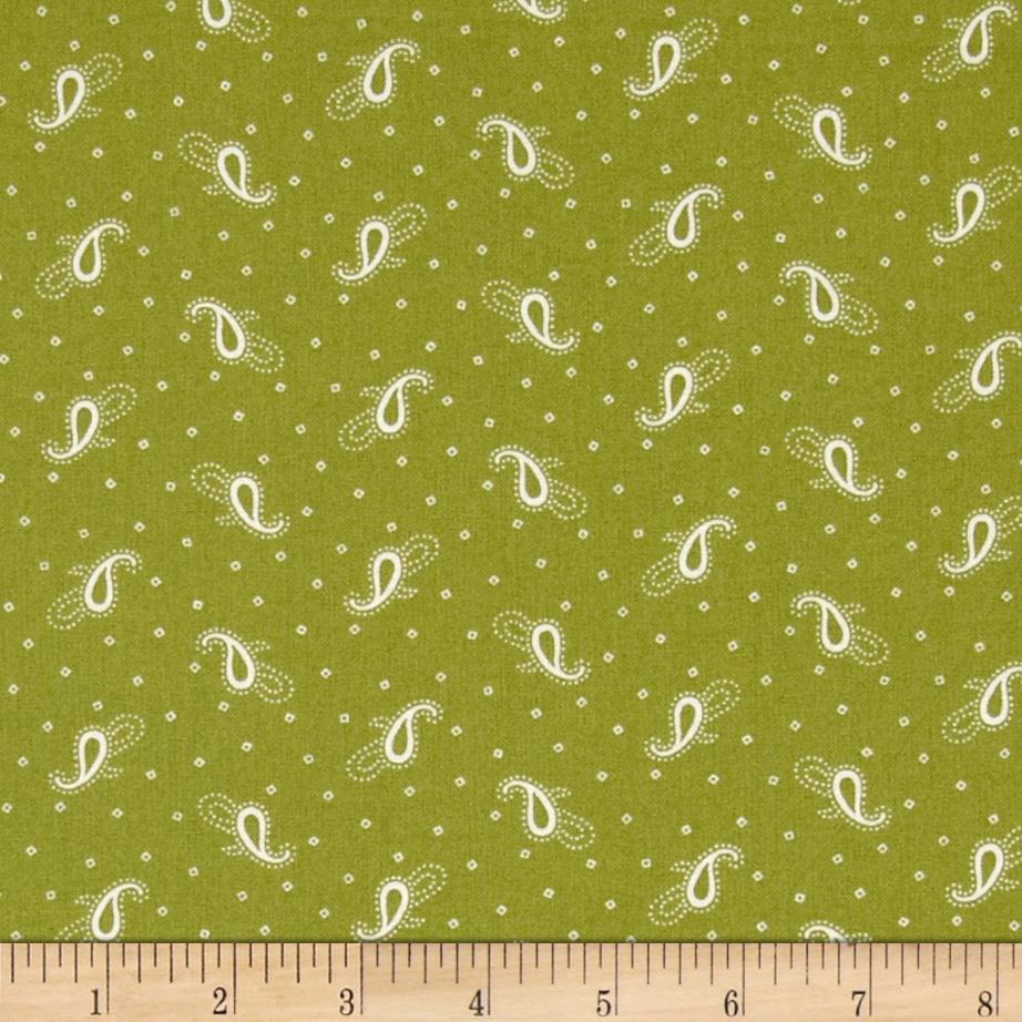 Birds of a Feather Simple Paisley Light Green