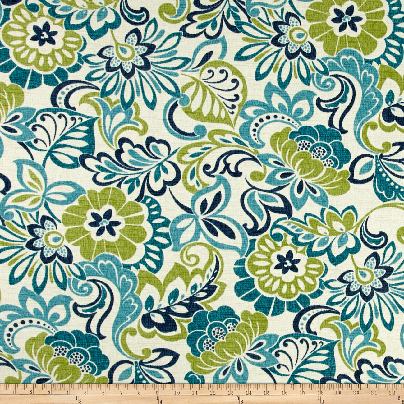 Image of Bryant Indoor/Outdoor Bloomfield Garden Zoe Mallard Fabric