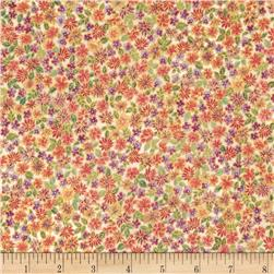 Robert Kaufman Tuscan Wildflower Metallic Small Flower Garden