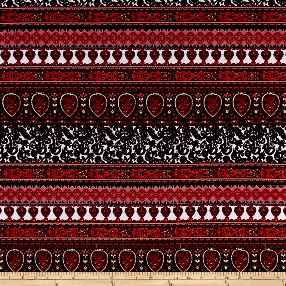 Liverpool Paisley Lace Red