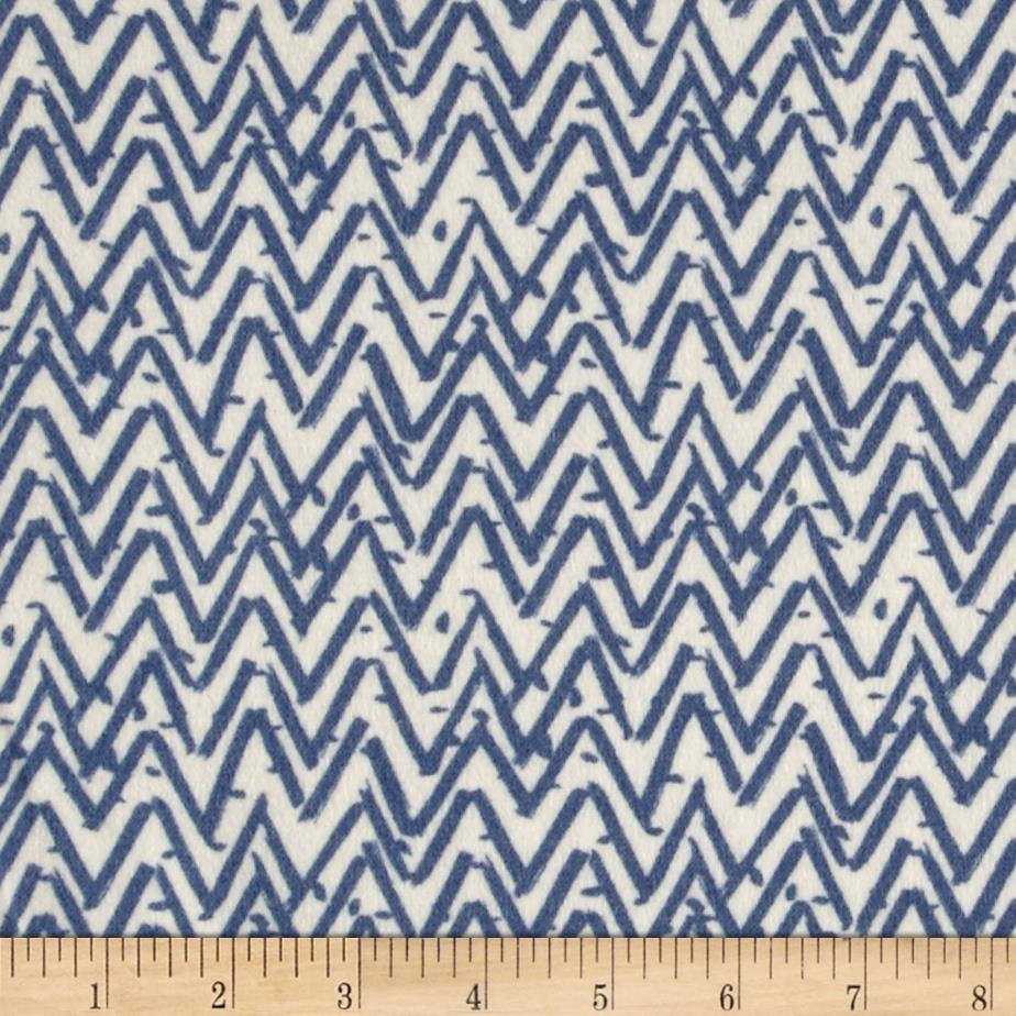 Dear Stella Oh Happy Day Flannel Zig Zag Baltic Blue