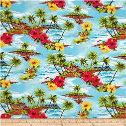 Hoffman Tropical Collection Small Floral Turquoise