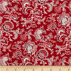 Alchemy Metallic Jacobean Red/Silver Fabric