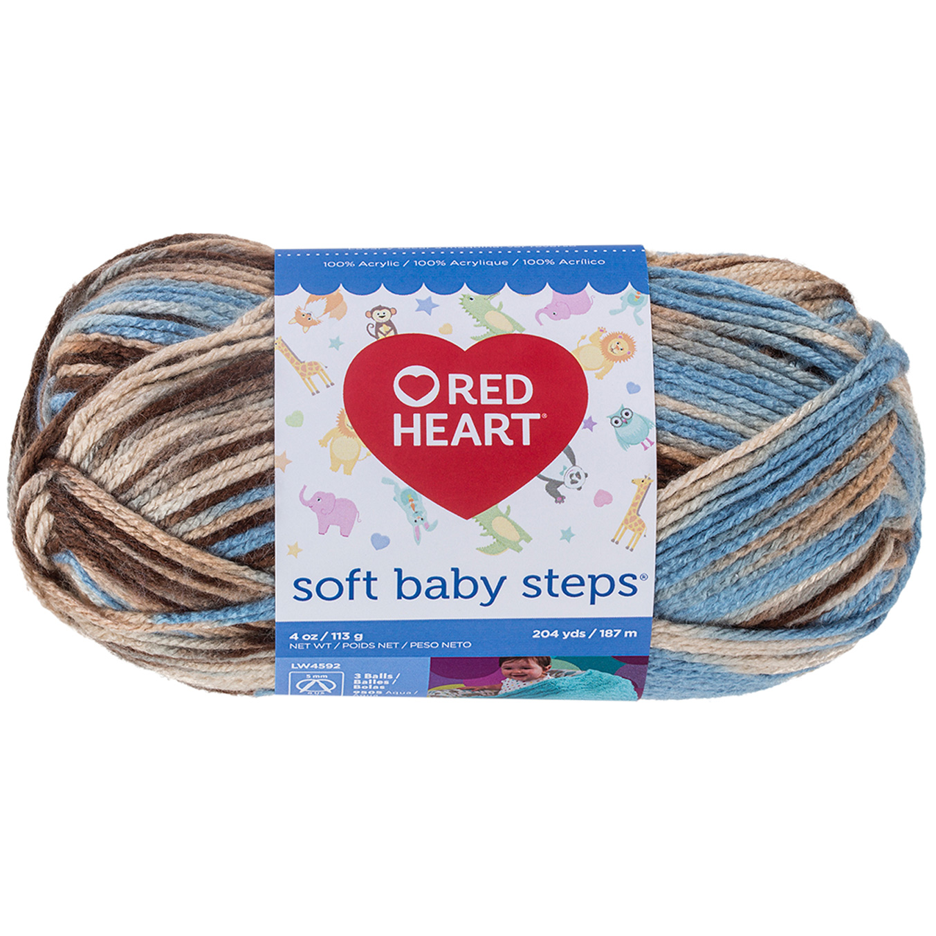 Red Heart Soft Baby Steps 9935 Blue Earth