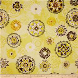 Felicity Floral Medallions Yellow Fabric