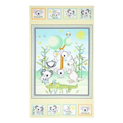 Koala Party 24 In. Panel Yellow/Aqua