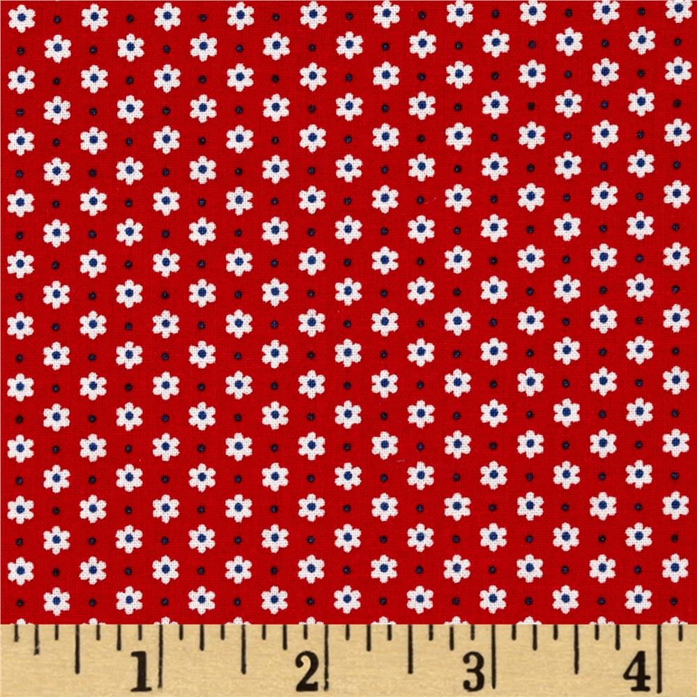 Kaufman Penny's Pets Stars Red