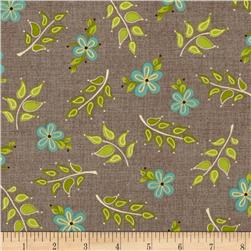 Home for Harvest Leaves/Flowers Taupe
