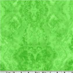 Flannel Tie Dye Lime Green Fabric