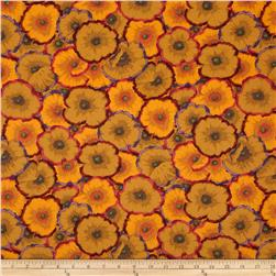 Phillip Jacobs Spring 2012 Sateen Picatte Poppies Ochre