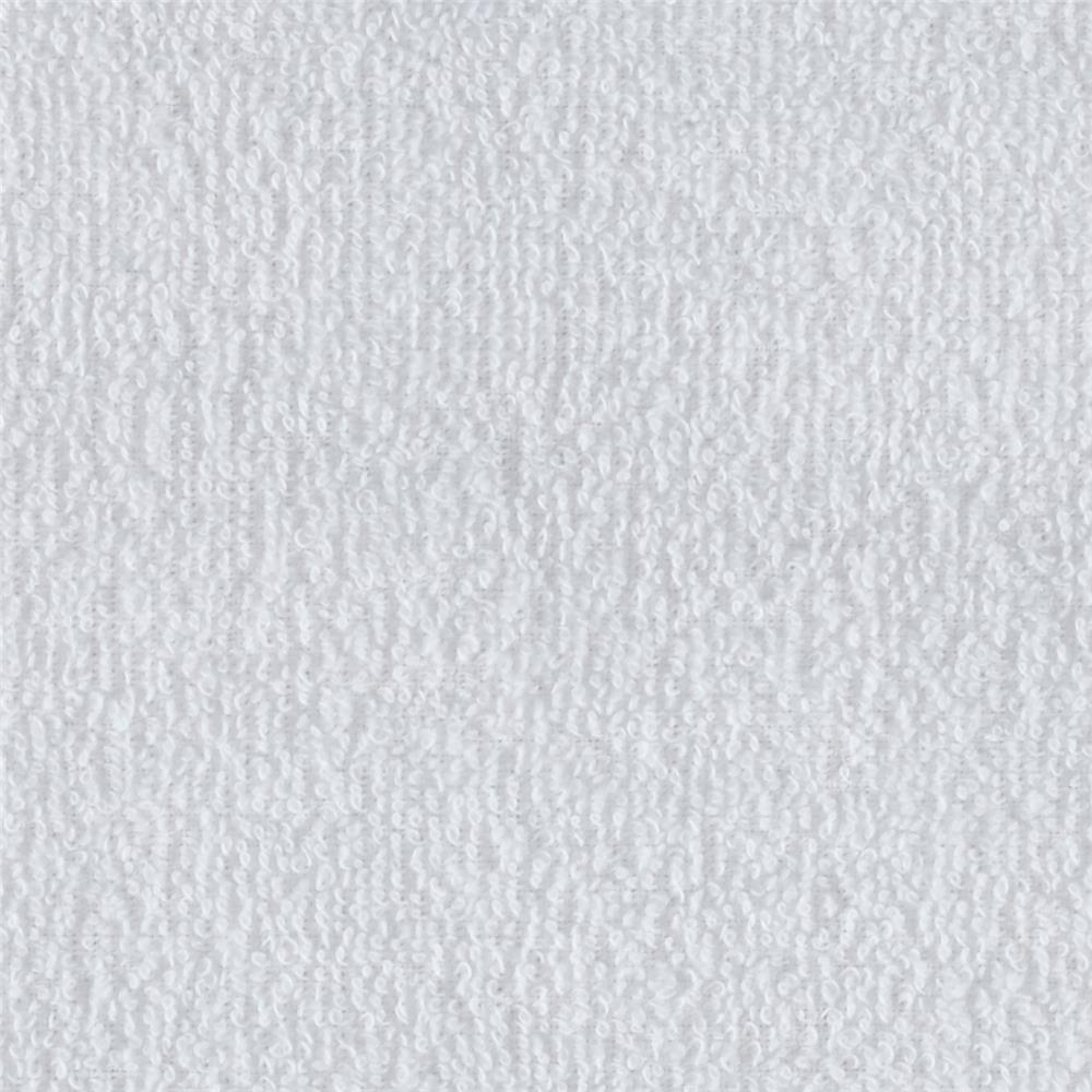 Medium Weight Terry Cloth Cuddle White Fabric By The Yard