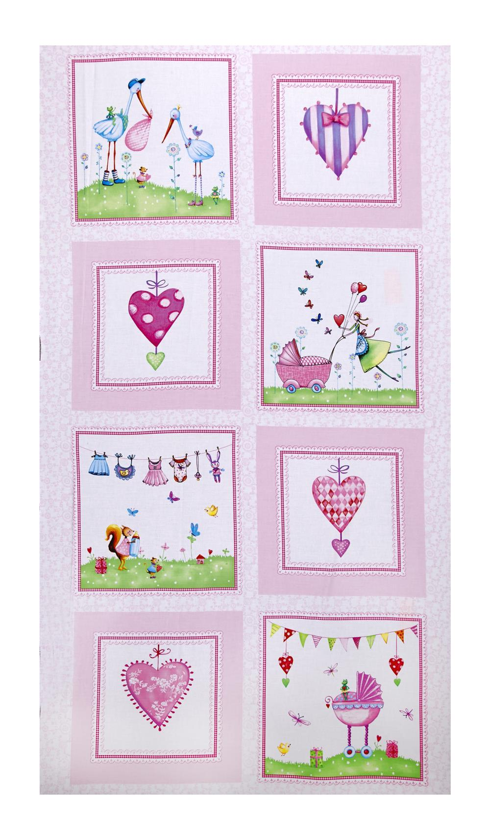 "A Bundle of Pink 24"" Panel Pink"