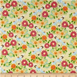 Birds n Bees Floral Yellow