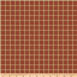 French General Remy Plaid Blend Rural Red