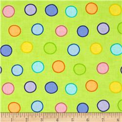 Moda Dot .Dot.Dash-! Bubble Dots Multi Green