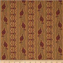 Moda Collections for a Cause Mill Book 1892 Border Stripe Tan