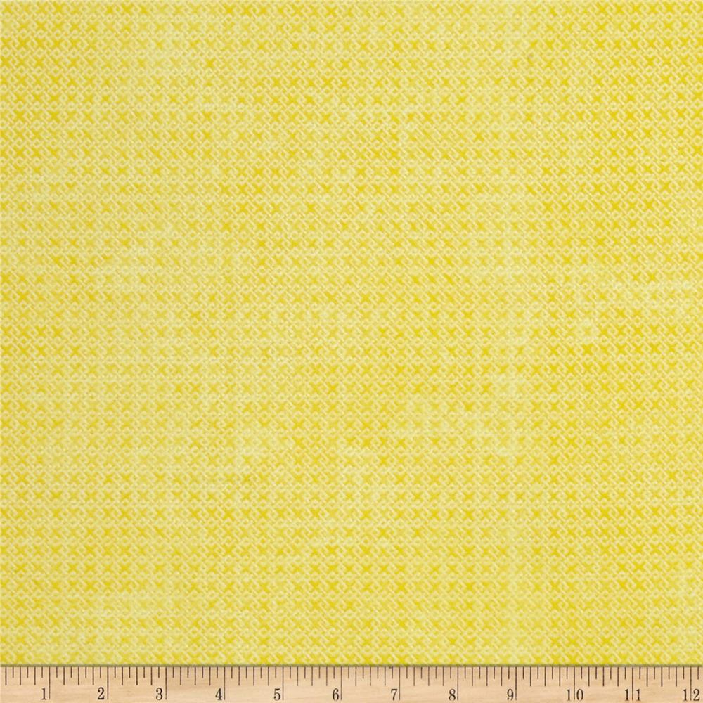 Essential Criss Cross 60'' Flannel Yellow Fabric