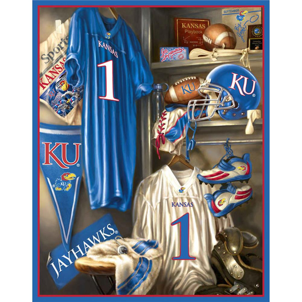 Collegiate Fleece Locker Room Panel University Of Kansas