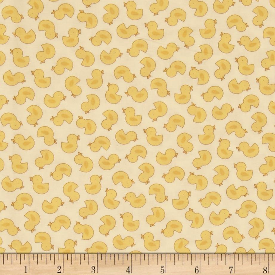 Baby Talk Just Duckies Pastel Yellow