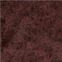 Crushed Panne Velour Brown Fabric