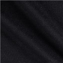 Stretch Rayon Cotton French Terry Knit Black Fabric