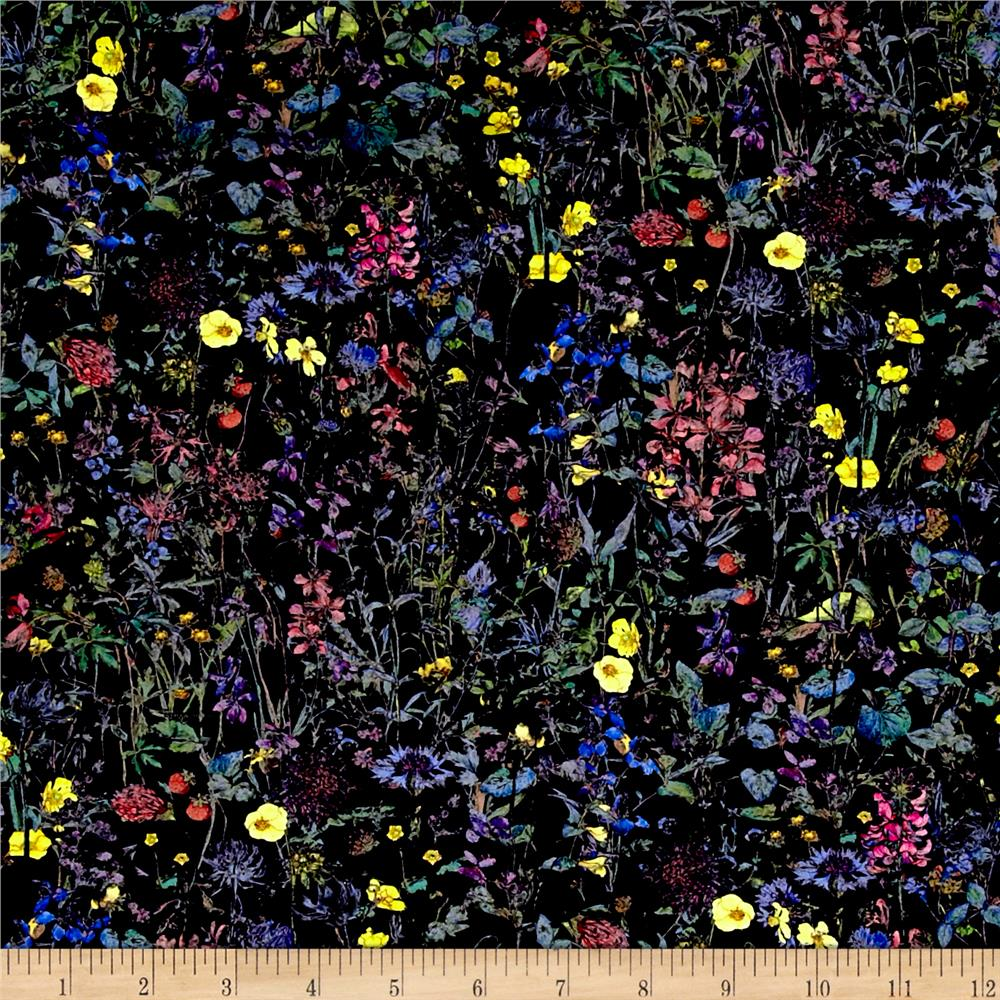 Liberty of London Wild Flowers Lawn Navy/Multi